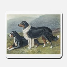 Antique Sheepdog Dog Portrait Mousepad