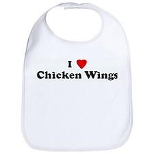 I Love Chicken Wings Bib