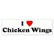 I Love Chicken Wings Bumper Bumper Sticker