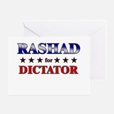 RASHAD for dictator Greeting Card