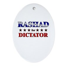 RASHAD for dictator Oval Ornament