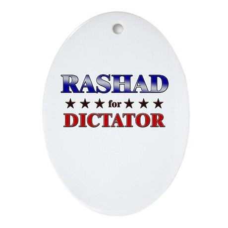 RASHAD for dictator Oval Ornament