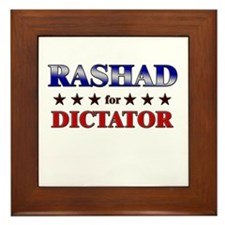 RASHAD for dictator Framed Tile