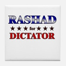 RASHAD for dictator Tile Coaster