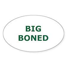 Big Boned Oval Decal