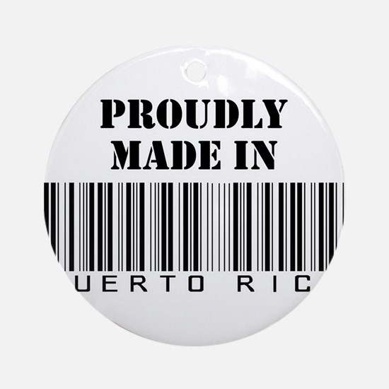 made in Puerto Rico Ornament (Round)