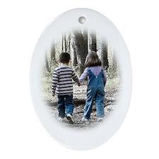 Jenna and Jake Oval Ornament