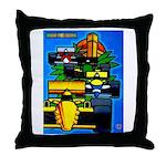 Grand Prix Auto Racing Print Throw Pillow