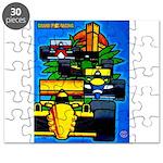 Grand Prix Auto Racing Print Puzzle