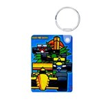 Grand Prix Auto Racing Print Keychains