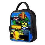 Grand Prix Auto Racing Print Neoprene Lunch Bag