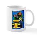 Grand Prix Auto Racing Print Mugs