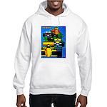 Grand Prix Auto Racing Print Hoodie Sweatshirt