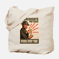 Ingredients of Peace Tote Bag