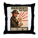 Ingredients of Peace Throw Pillow