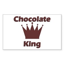 Chocolate King Rectangle Decal