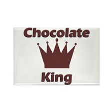 Chocolate King Rectangle Magnet
