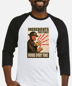 Ingredients of Peace Baseball Jersey