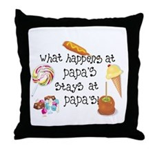 What Happens at Papa's... Throw Pillow