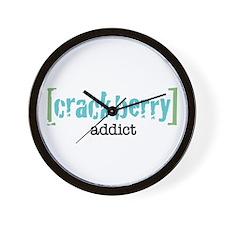 Crackberry Addict Wall Clock