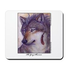 Grey Shaman Wolf Mousepad