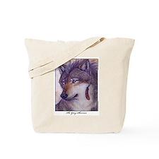 Grey Shaman Wolf Tote Bag