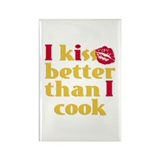 Kiss Better Than Cook Rectangle Magnet