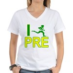 I Run PRE Women's V-Neck T-Shirt
