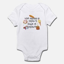 What Happens at Papaw's... Funny Infant Bodysuit