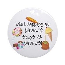 What Happens at Papaw's... Ornament (Round)
