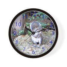 Squirrel on Rock Wall Clock