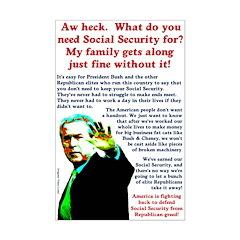 President Bush Social Security Poster