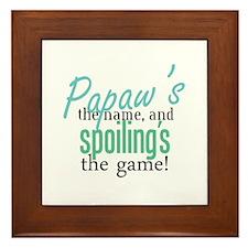 Papaw's the Name! Framed Tile