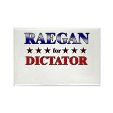 RAEGAN for dictator Rectangle Magnet