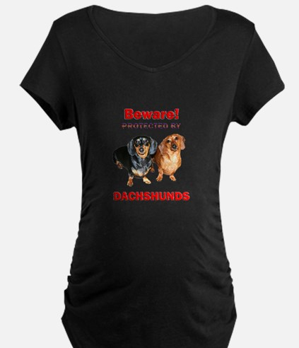 Protected By Dachshunds T-Shirt