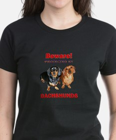 Protected By Dachshunds Tee