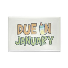 Due In January Rectangle Magnet