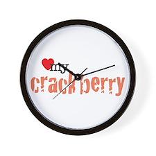 Love my Crackberry Wall Clock