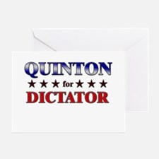 QUINTON for dictator Greeting Card