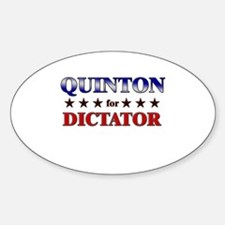 QUINTON for dictator Oval Decal
