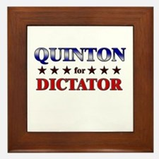 QUINTON for dictator Framed Tile