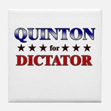 QUINTON for dictator Tile Coaster