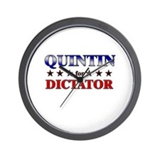 QUINTIN for dictator Wall Clock