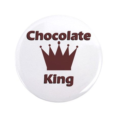 """Chocolate King 3.5"""" Button"""
