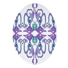 'Purple Iris' Keepsake Oval Ornament