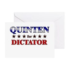 QUINTEN for dictator Greeting Card