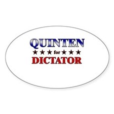 QUINTEN for dictator Oval Decal