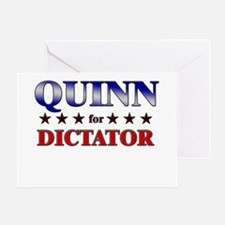 QUINN for dictator Greeting Card