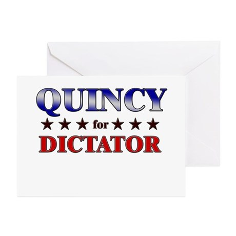 QUINCY for dictator Greeting Cards (Pk of 10)