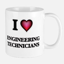 I love Engineering Technicians Mugs